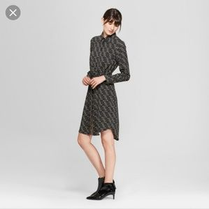 NWT Prologue Black Button Down Dress Career MD